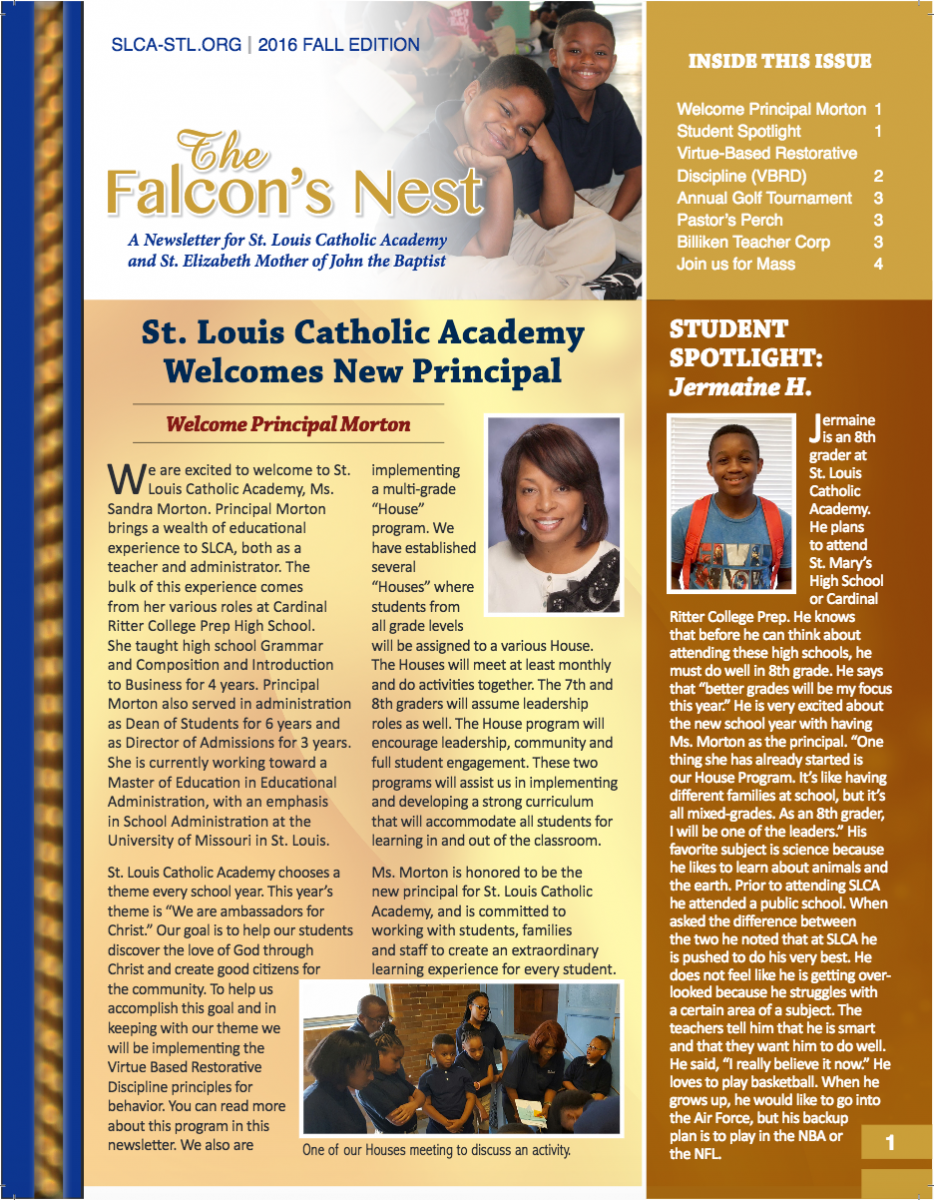 The Falcon's Nest - Fall 2016 Edition